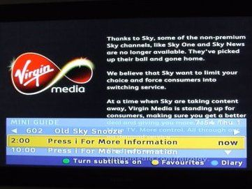 Sky Pulls Basic Channels From Virgin Cable Techradar