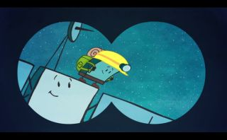 Comet landing cartoon, rosetta, philae