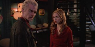 James Marsters and Sarah Michelle Gellar in Buffy Episode Once More, With Feeling