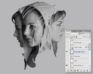 Design a mixed media portrait in Photoshop and Illustrator