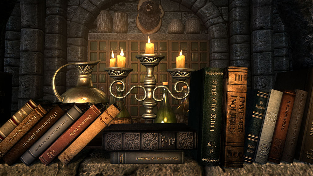 the best skyrim players: book covers