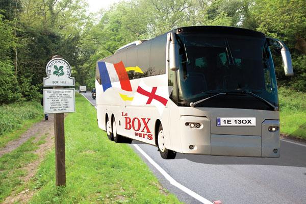 Dr Hutch, bus, tour, france, box hill, uk, britain