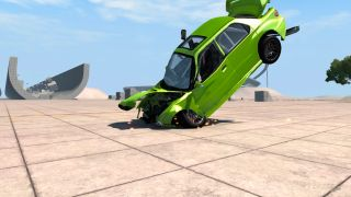 BeamNG car crash cropped
