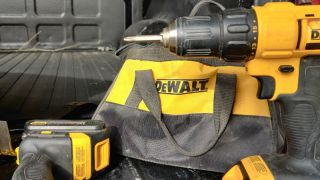 DeWalt cordless drill in truck