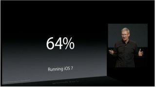 64 percent iOS 7
