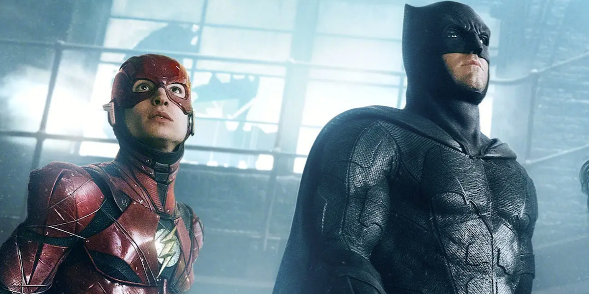 Flash and Batman in Justice League