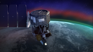 An artist's depiction of the ICON mission in orbit.