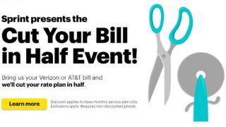 Sprint cut your bill in half