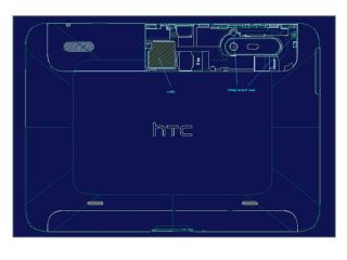This big blue drawing is of the HTC Puccini