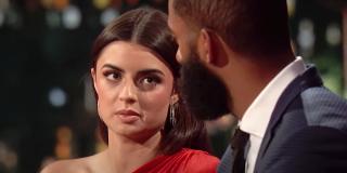 Rachael Kirkconnell talks to Matt James on The Bachelor After the Final Rose