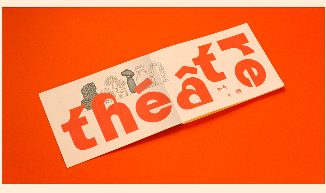 Theatre programme on red background