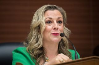 Kendra Horn, D-Okla., leads the House Subcommittee on Space and Aeronautics; she is seen here during a hearing about NASA held on Sept. 18, 2019.