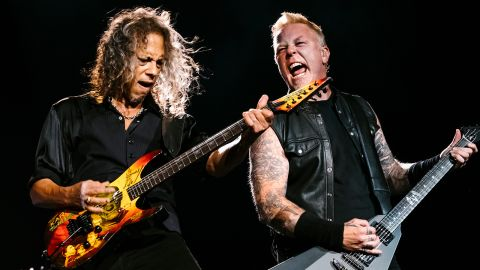 a shot of metallica on stage
