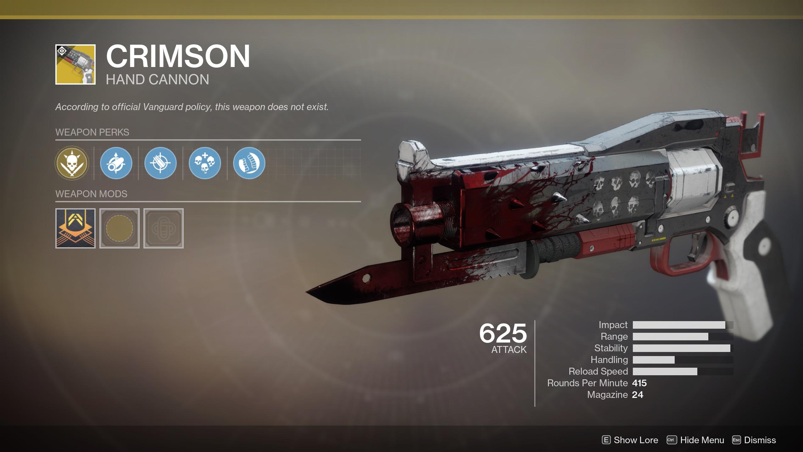 نتيجة بحث الصور عن destiny crimson hand cannon