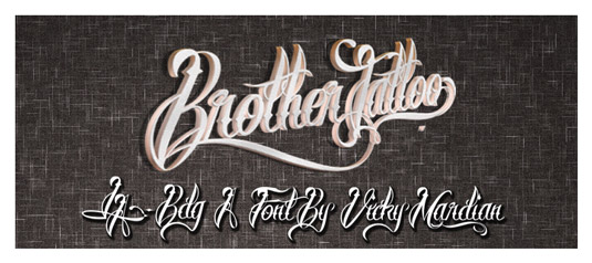 Tattoo fonts: Brother tattoo