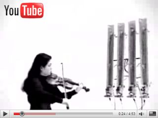 A robot jamming with a violin player And no of course it doesn t sound good but it s entertaining