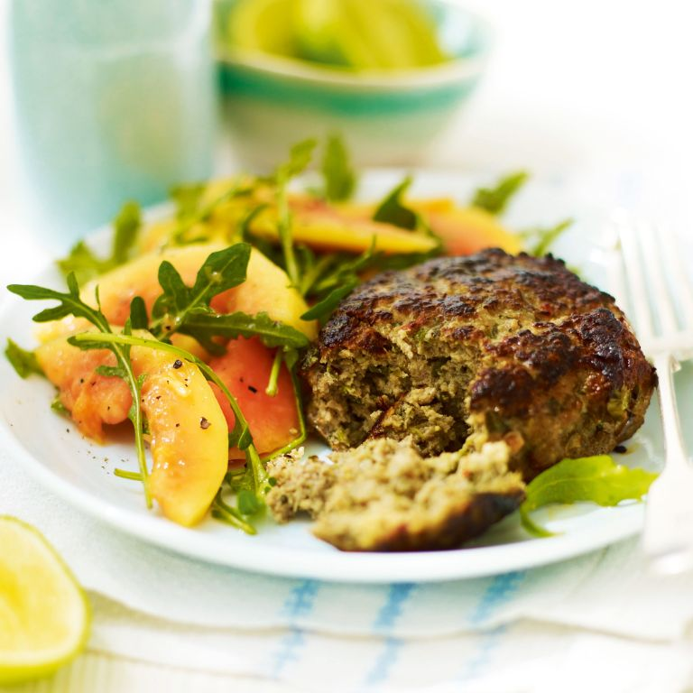 Coriander and Lemongrass Pork Burgers-summer food-Woman and home