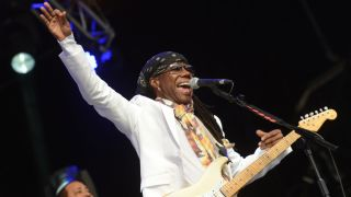 Nile Rodgers: a man with a lot to smile about at the moment.