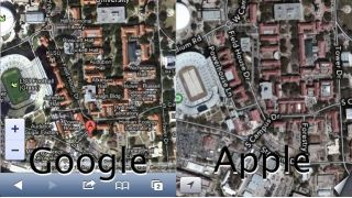iOS 6 maps comparison