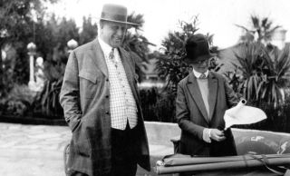William Randolph Hearst with Hearst Castle architect Julia Morgan.
