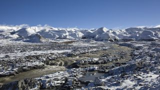 Glacier on the Tibetan Plateau.