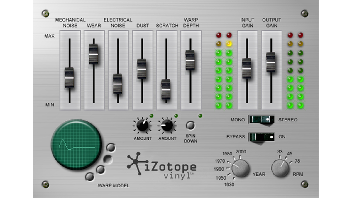 Vinyl, iZotope's fantastic free plugin, is back in an updated form