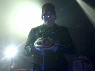 Joe Satriani films MusicRadar...as we film him.