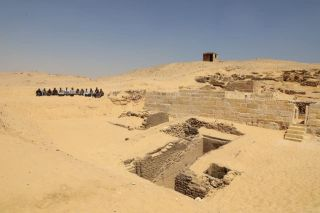 Archaeologists working southeast of the Giza Pyramids have discovered part of a cemetery that dates back about 4,500 years.