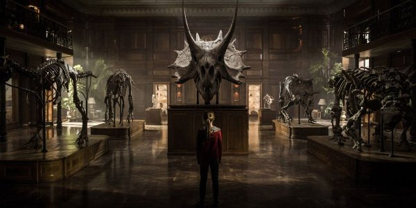 Jurassic World: Fallen Kingdom Maisie gazes upon the dinosaur collection