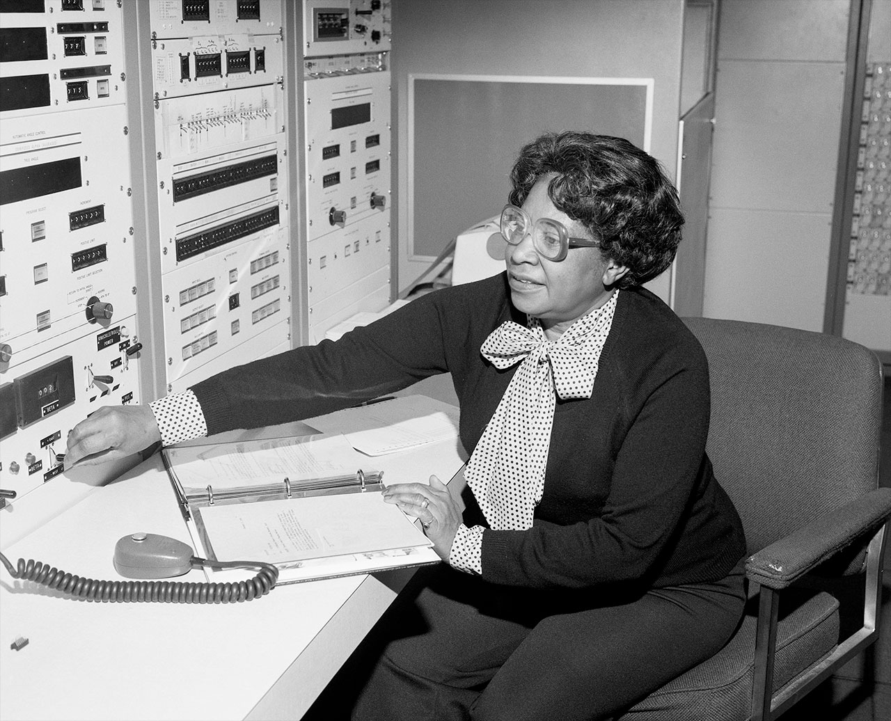 Mary W. Jackson at NASA's Langley Research Center in Hampton, Virginia, where she began work in 1951 and became the agency's first African American female engineer in 1958.