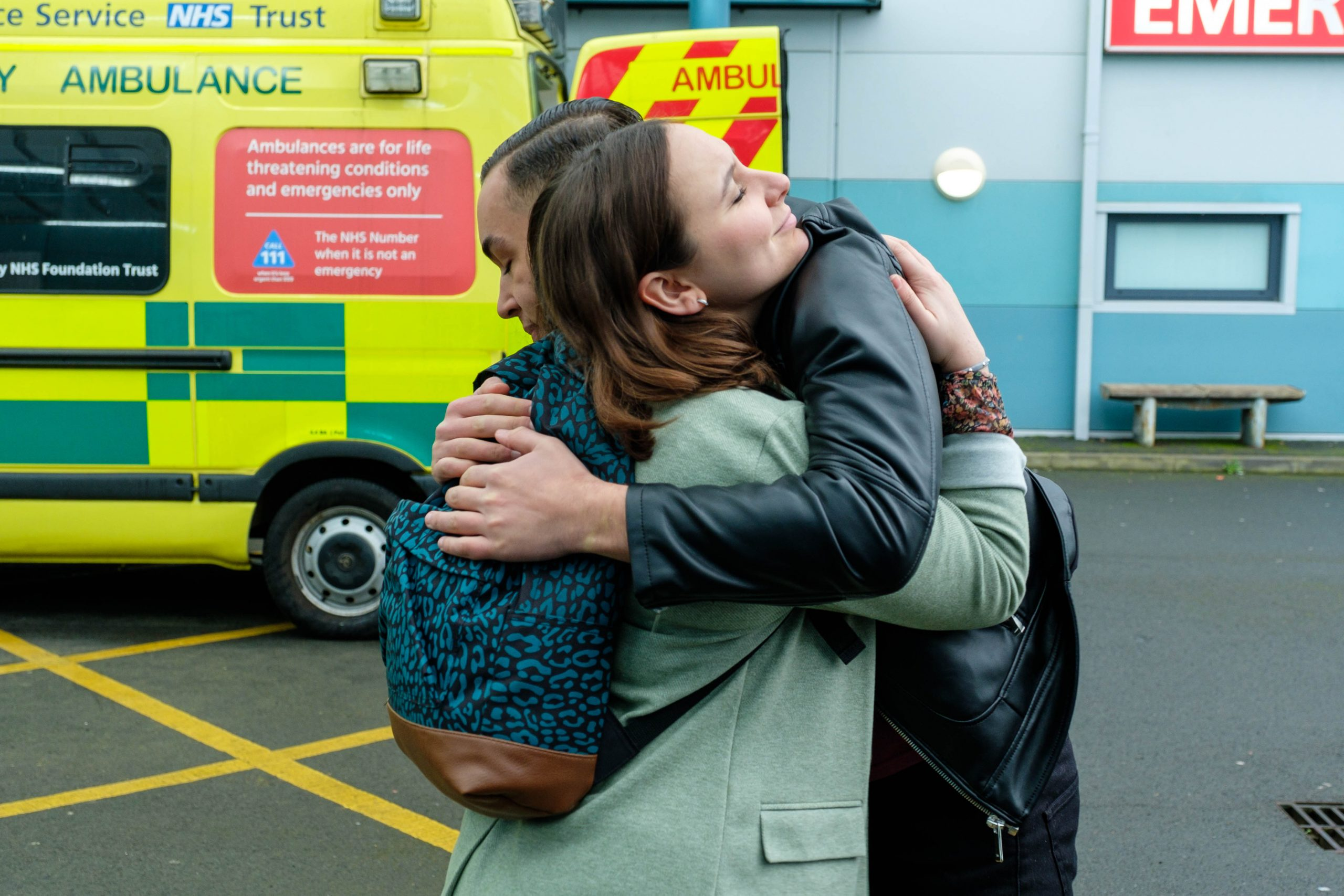 Marty and Jade hug, as he offers his support