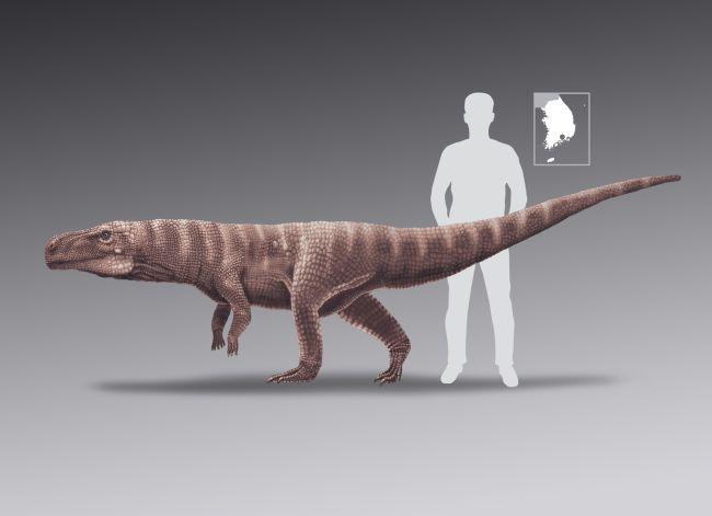Crocodilo antigo andou sobre duas pernas