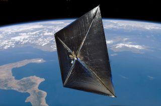 NASA's Nanosail-D soars in Earth orbit in this artist's illustration.