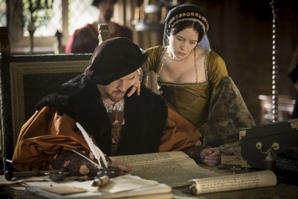 Damian Lewis and Claire Foy in Wolf Hall