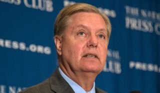 Sen. Lindsey Graham, R-South Carolina, at the National Press Club in Washington, D.C., September 2015.