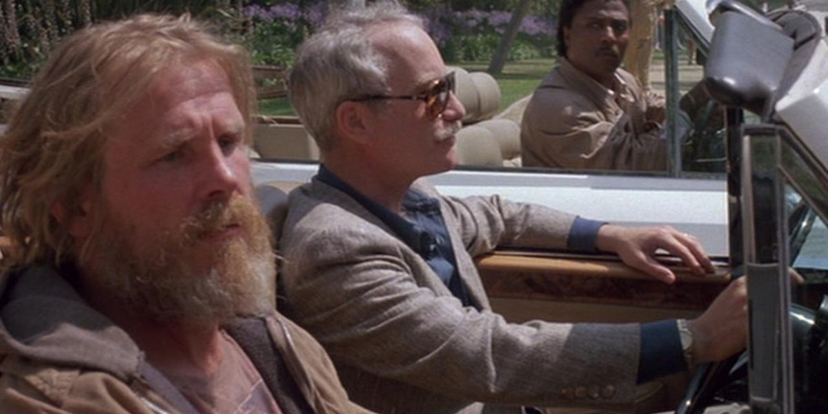Nick Nolte and Richard Dreyfuss in Down and Out in Beverly Hills