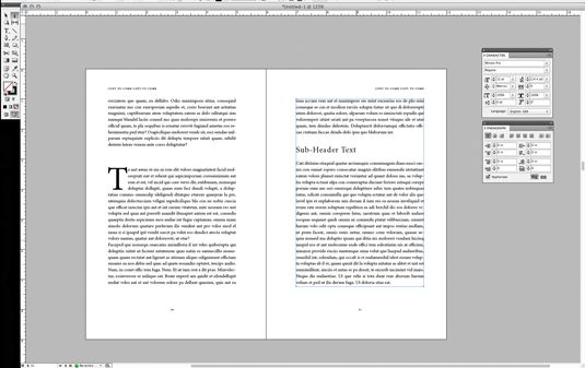 Book pages layout in InDesign