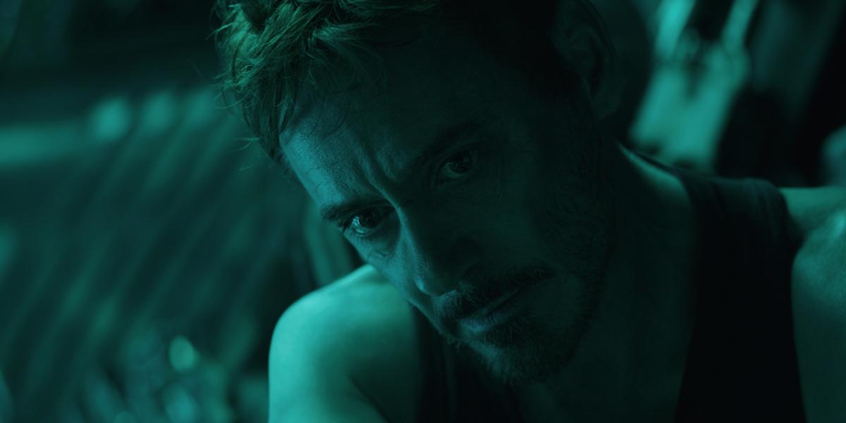 Tony Stark recording a message for Pepper Potts
