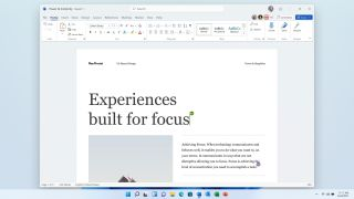 Microsoft Office Word 2021: Running on Windows 11