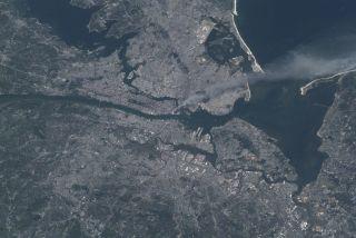 Smoke Plume Rising from Manhattan