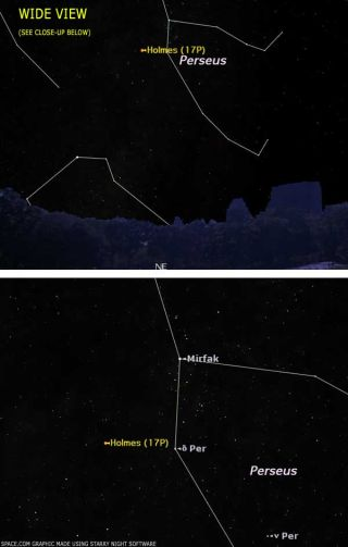 Obscure Comet Brightens Suddenly