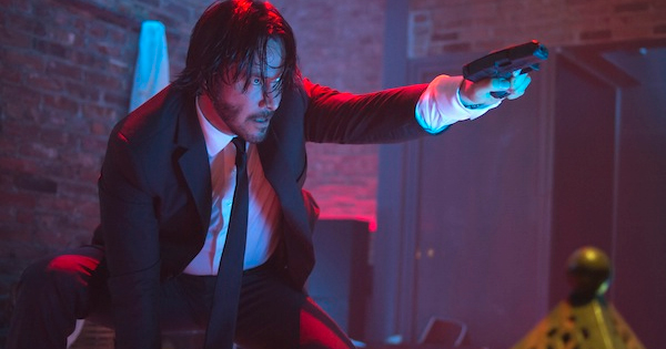 John Wick Review with Keanu Reeves shooting