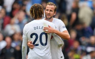 Tottenham Hotspur's Dele Alli and Harry Kane embrace | Tottenham v Chelsea live stream