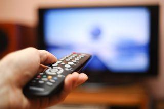 tv, remote