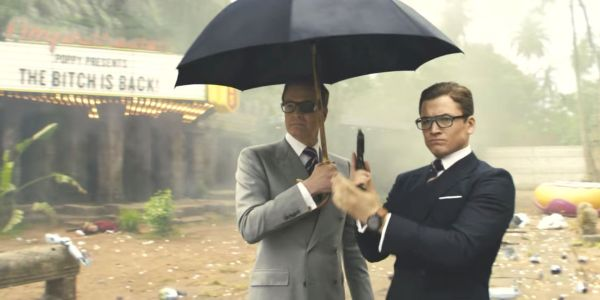 Taron Egerton and Colin Firth in Kingsman: The Golden Circle