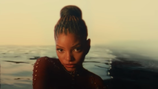 Halle Bailey in the music video for Ungodly Hour