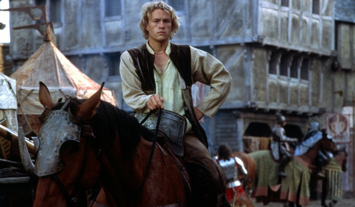 A Knight's Tale Heath Ledger riding in on his horse