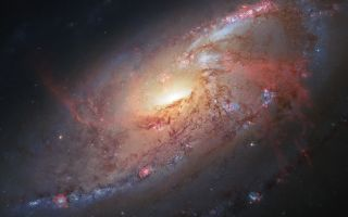 Spiral Galaxy M 106 Space Wallpaper