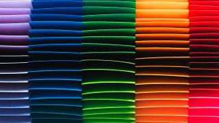 Layers of colored paper