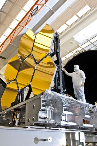 The 21 mirror segments of the James Webb Space Telescope (JWST) have been coated with microscopic layers of gold.